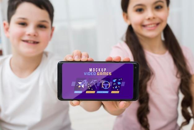 Smartphone mit videospielen
