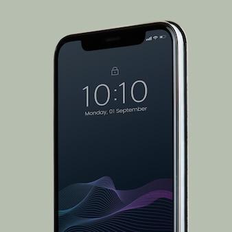 Smartphone-mockup-design mit schwarzem bildschirm