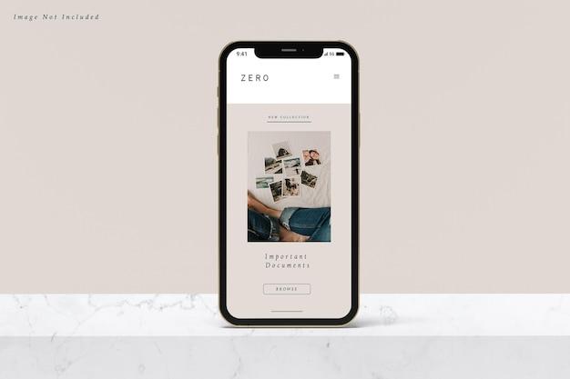 Smartphone mockup design