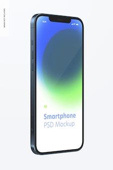 Smartphone-modell auf weiß