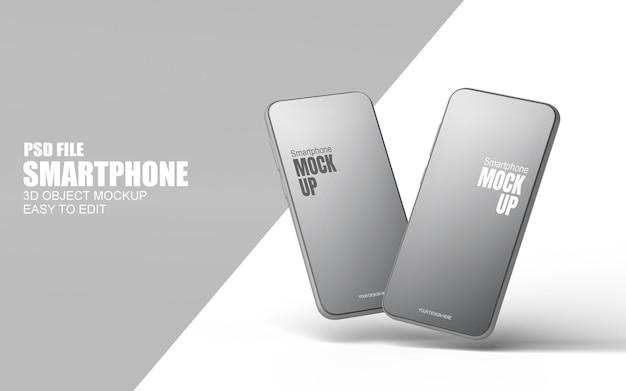 Smartphone-modell in 3d-rendering isoliert
