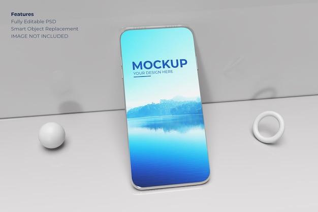 Smartphone-modell in realistischer 3d-darstellung