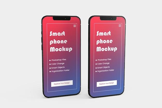 Smartphone-modell isoliert Premium PSD