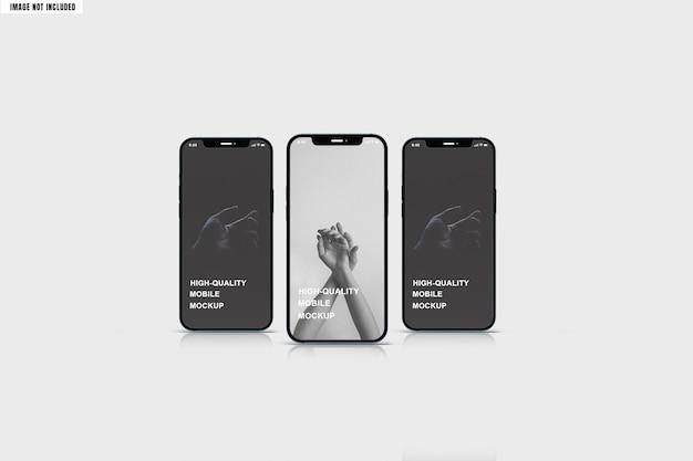 Smartphone-modell mit echter reflexion