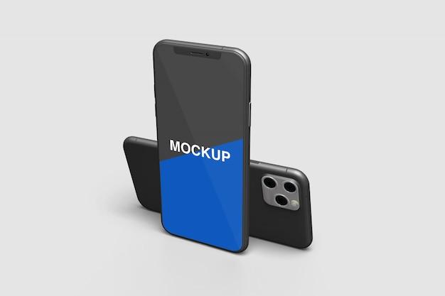 Smartphone-modell mit rechter ansicht