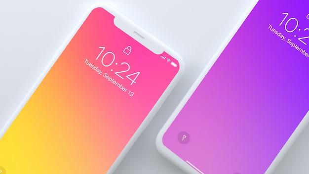 Smartphone-modell von zwei