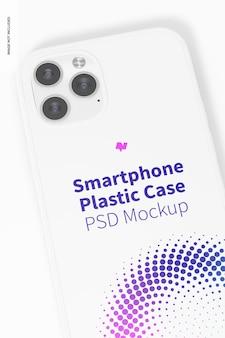 Smartphone plastikhülle mockup, nahaufnahme