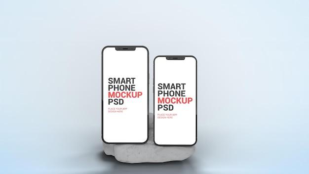 Smartphone pro und pro max auf marble mockup