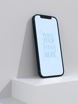 Smartphone rahmenloses leeres bildschirmmodell