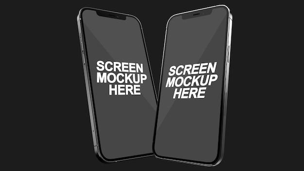 Smartphone schwarz mockup psd