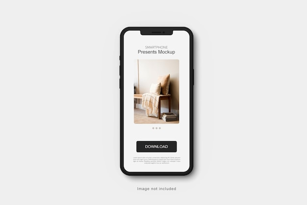 Smartphone-ton-mockup-rendering isoliert