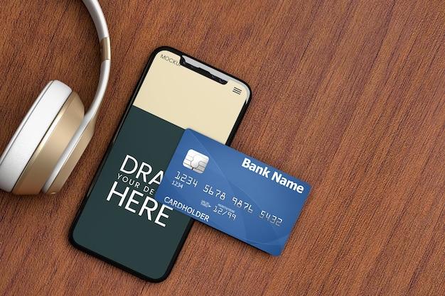 Smartphone- und kreditkartenmodell