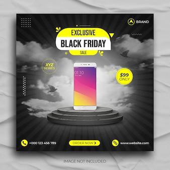 Smartphone-werbung black friday sale social media post instagram post banner vorlage
