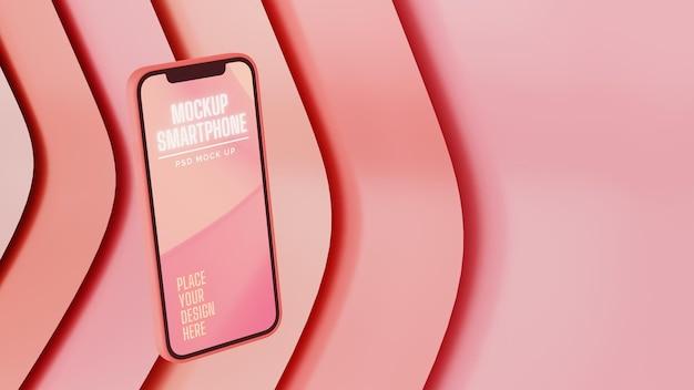Smartphones mit fliegendem mockup-bildschirm