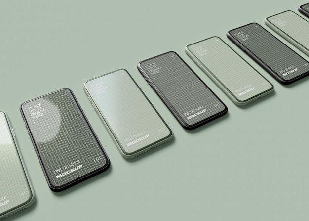 Smartphones mockup