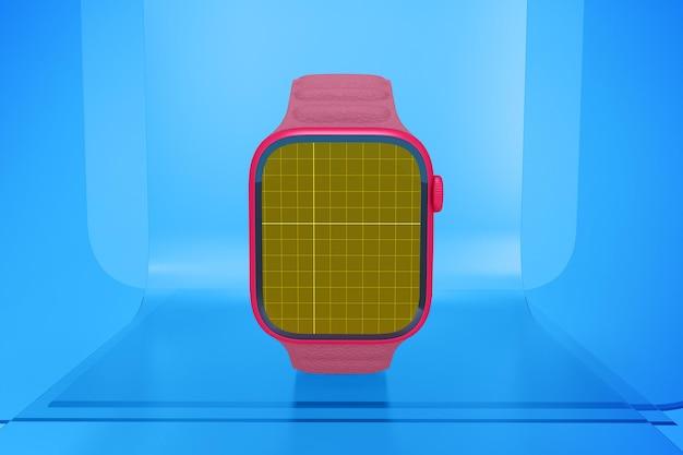 Smartwatch auf glas