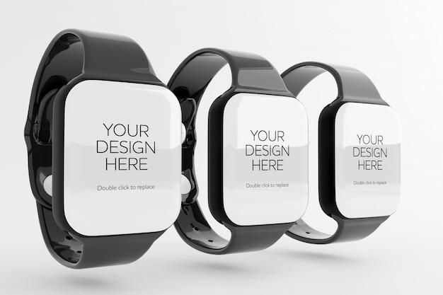 Smartwatch mit leerem bildschirmmodell