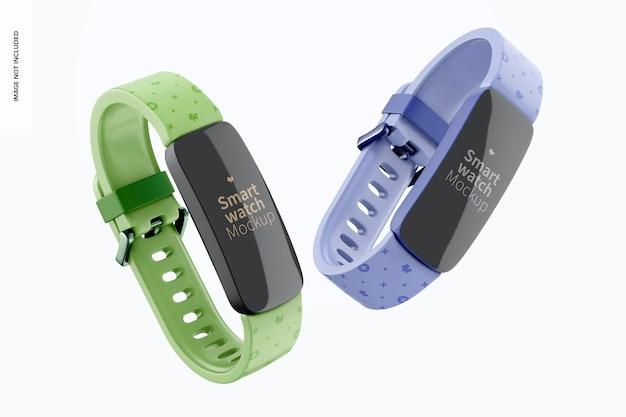 Smartwatches mockup, schwimmendes zubehör