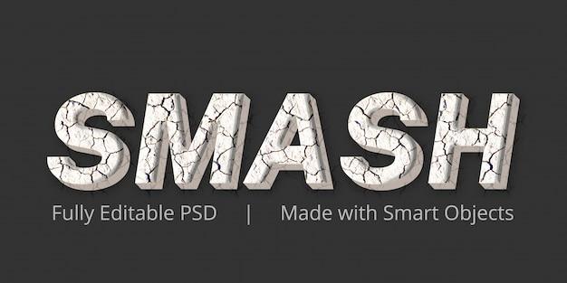 Smash-textstil-effekt