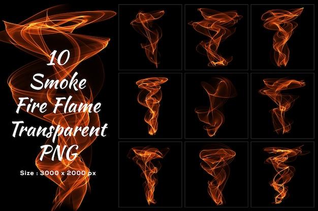 Smoke fire flame transparente sammlung