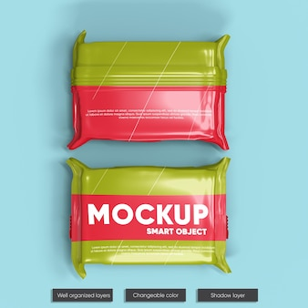 Snack bar paket mockup design