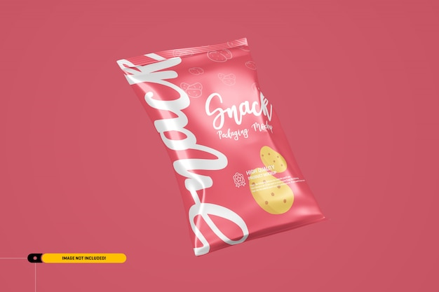 Snack chips folienverpackung verpackungsmodell