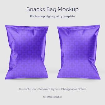 Snacks bag mockup
