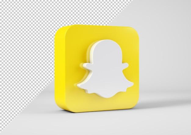 Snapchat-logo in 3d-rendering