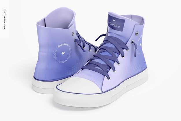 Sneaker-modell, vorder- und rückseite