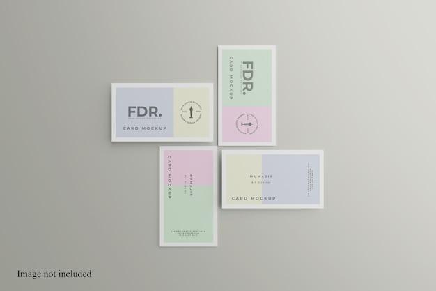 So zeigen sie das minimalistische visitenkartenmodell an
