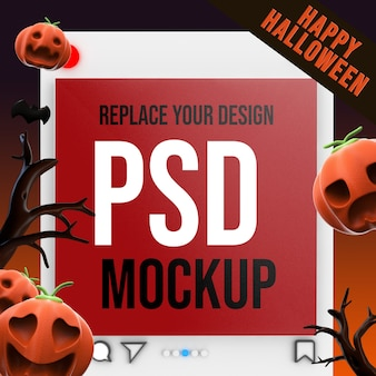 Socail media quadratische größe mockup design 3d-rendering