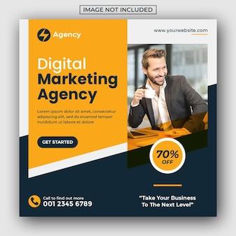 Social business marketing agentur social media post und web-banner