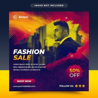 Social fashion sale social media und web-banner-vorlage