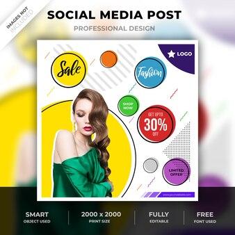 Social media abstrakte mode beitrag