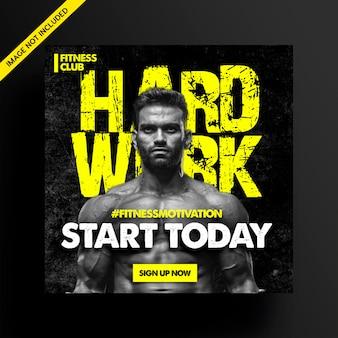 Social media ad flyer für fitnessstudio