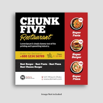 Social-media-banner für restaurants
