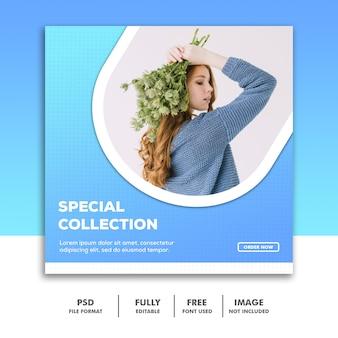 Social-media-banner-vorlage, fashion girl special