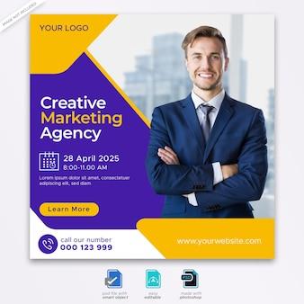 Social-media-banner-vorlage für digitales marketing