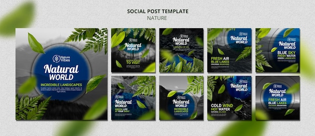 Social-media-beiträge aus der natur