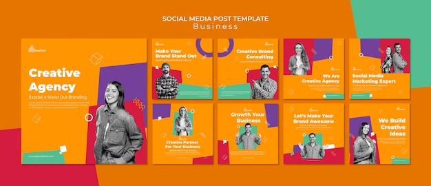 Social media-beiträge der kreativagentur
