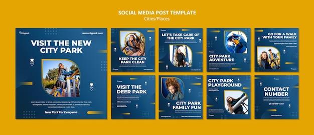 Social-media-beiträge im stadtpark