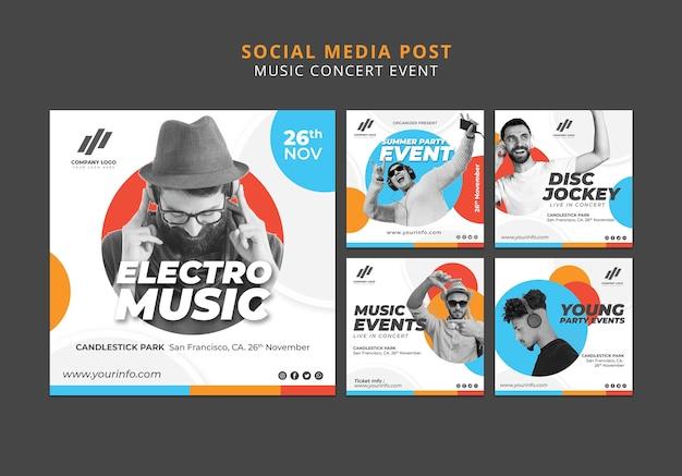 Social media beiträge sammlung