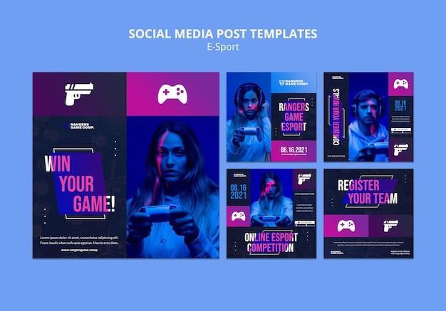 Social-media-beitrag für videospielspieler