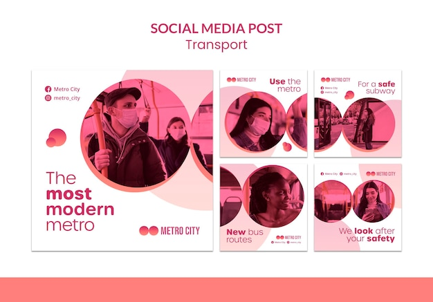 Social-media-beitrag zum modernen transport