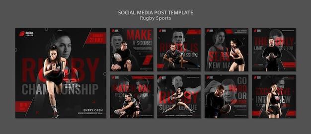 Social-media-beitrag zum rugby-sport