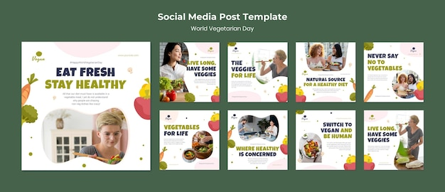 Social-media-beitrag zum weltvegetariertag