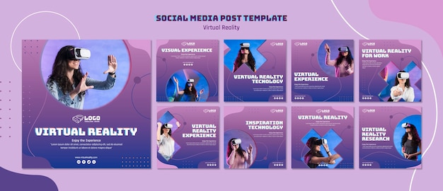Social-media-beitrag zur virtuellen realität
