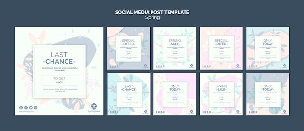 Social media-beitragsvorlagensammlung