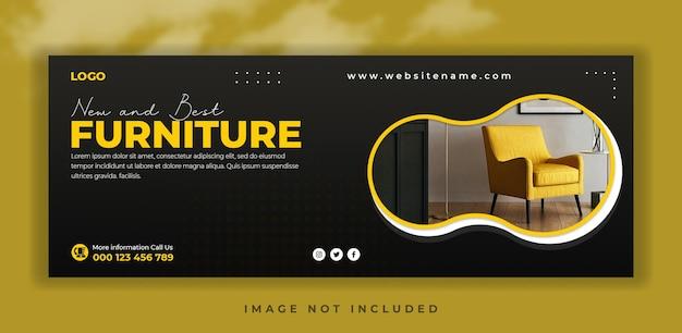 Social media cover banner-vorlage für die verkaufsförderung von möbeln