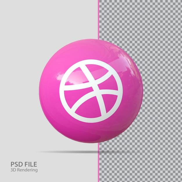 Social-media-dribbling 3d-rendering